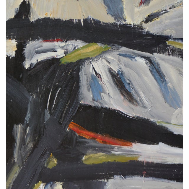 """Laurie MacMillan Laurie MacMillan """"Pathways"""" Abstract Painting For Sale - Image 4 of 6"""