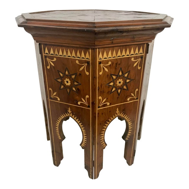 Syrian Octagonal Folding Traveling Table For Sale