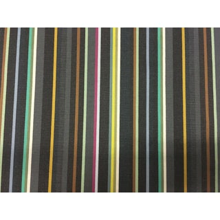 Mid-Century Modern Paul Smith Maharam Ottoman Pistachio Stripe Upholstery Fabric - 3 Yards For Sale