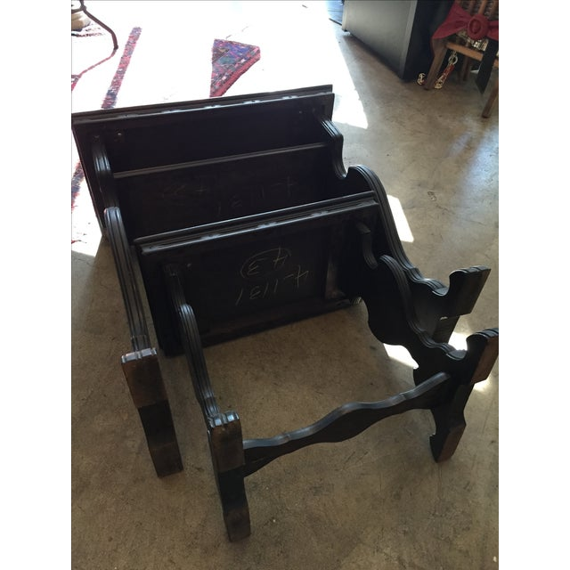 Vintage Writing Desk and Nesting Bench - Image 9 of 11