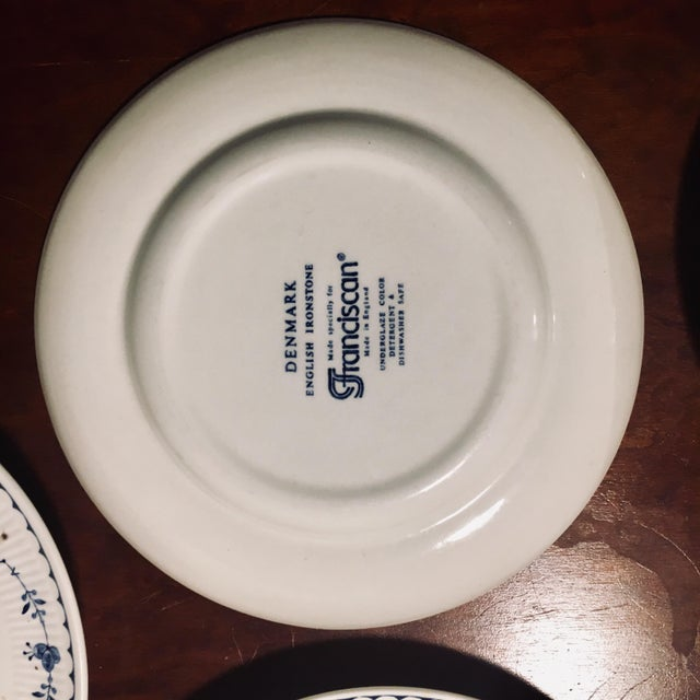 Dessert/Pie Plate Denmark Blue by Franciscan - Set of 7 For Sale - Image 4 of 8