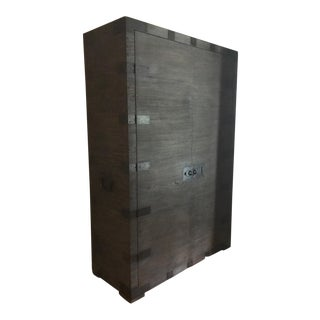 Restoration Hardware Heirloom Silver-Chest Armoire For Sale