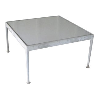 1966 Mid-Century Modern Richard Schultz White Enamel and Steel Square Outdoor Table For Sale