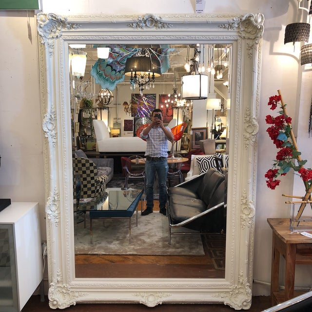 Rachel Ashwell Renaissance Large White Mirror For Sale - Image 13 of 13