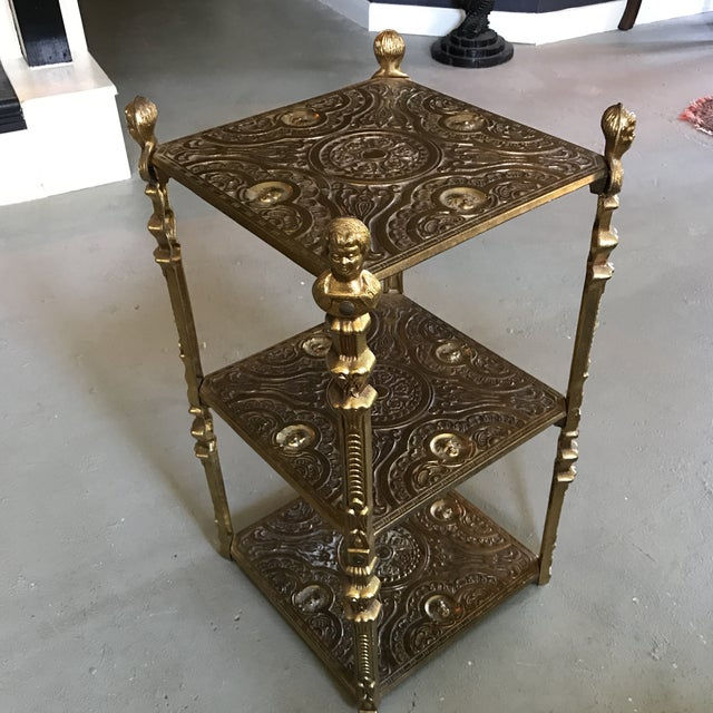 Victorian Style Three Tier Side Table Shelf - Image 3 of 5