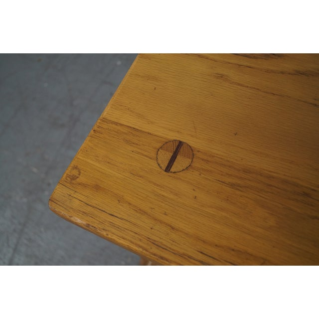 Brandt Ranch Oak Rustic Step End Tables - Pair - Image 6 of 10