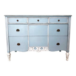 1930s Country Blue Dresser For Sale