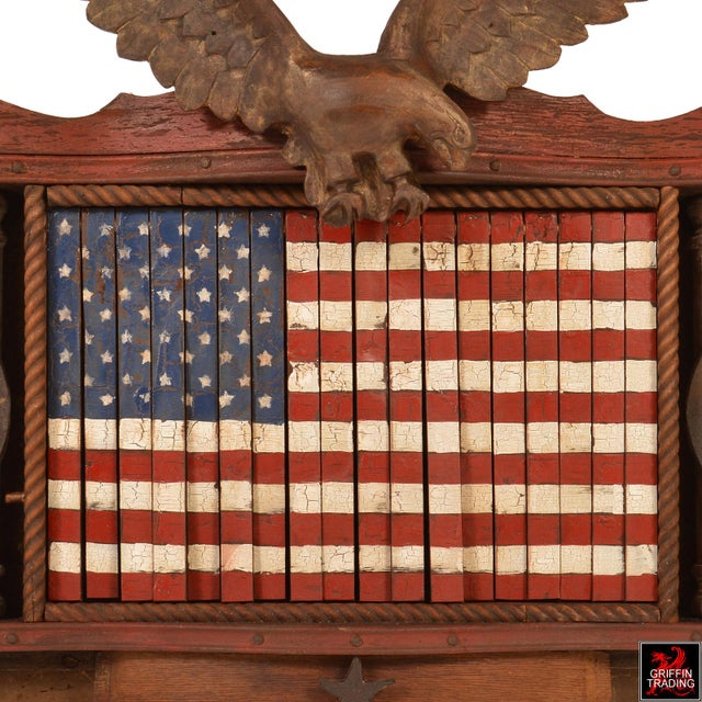 2010s FOREVER SHE WAVES #2 Mechanical American Flag with Eagle For Sale - Image 5 of 10