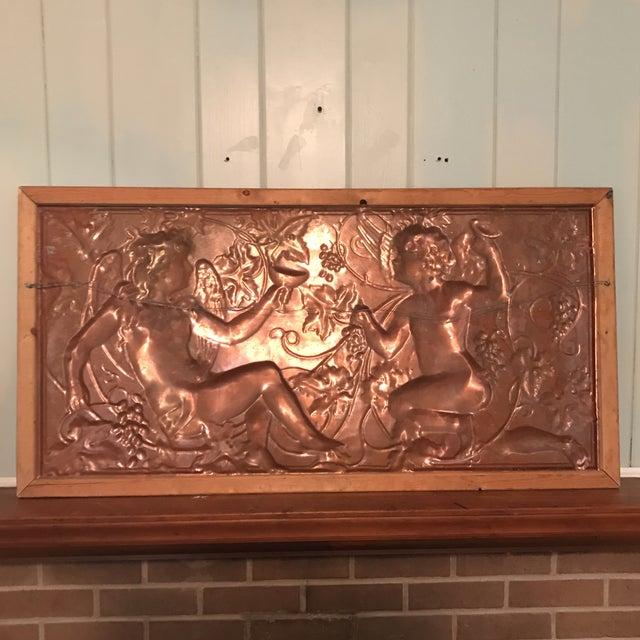 Victorian Copper Cherub Wall Panel For Sale - Image 10 of 11