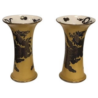 Mid 19th Century Antique Ironstone Mason's Vases - A Pair For Sale