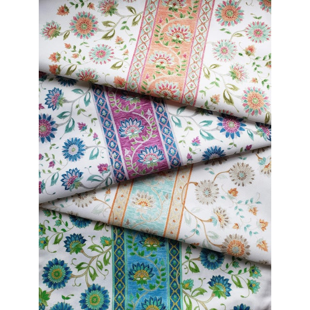 Ferran Indianas Fabric, Sample, Papaya in French Cotton Twill For Sale - Image 4 of 5
