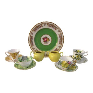 1950s Vintage European Breakfast/Dessert Service, 11 Pieces - Set of 11 For Sale