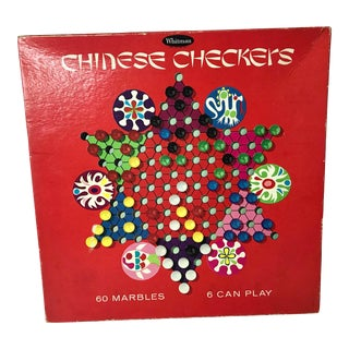 Vintage Chinese Checker Game With Marbles For Sale