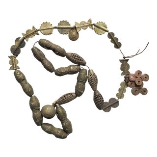 Rare Unique Antique African Brass Beads For Sale