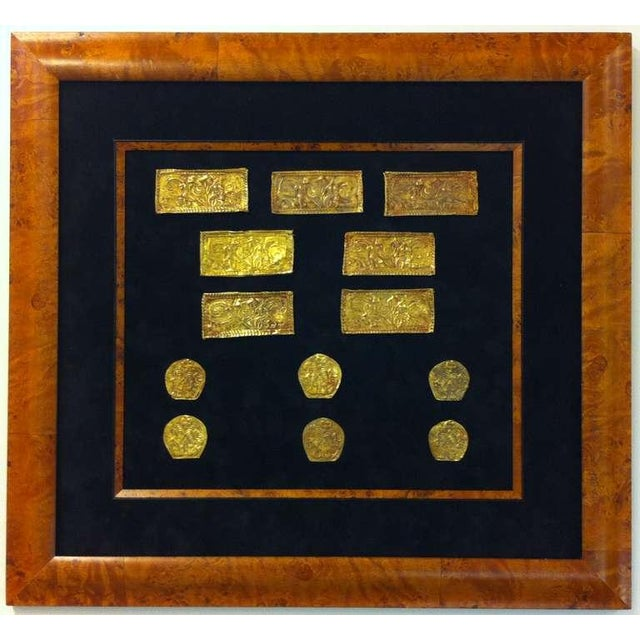 A group of thirteen Ordos Culture gold repousse plaques. Originally intended as clothing ornaments, these highly detailed...