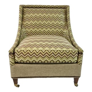 Modern Drexel Heritage Green and Brown Merris Chair For Sale