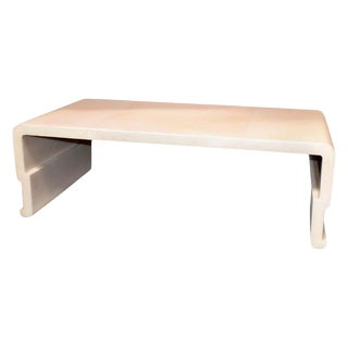 Sculptural Parchment Coffee Table For Sale