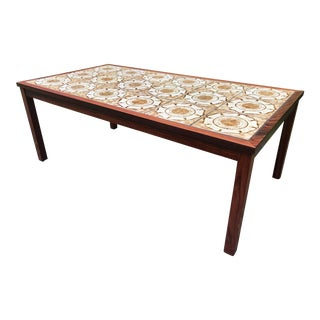 Vintage Coffee Table With Tiles Italian Mediterranean