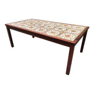 Vintage Tile Coffee Table Danish Rosewood