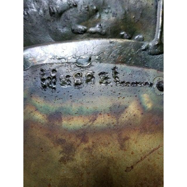 Brutalist 1970s Vintage William Wessel Steel Brutalist Wall Sculpture For Sale - Image 3 of 6