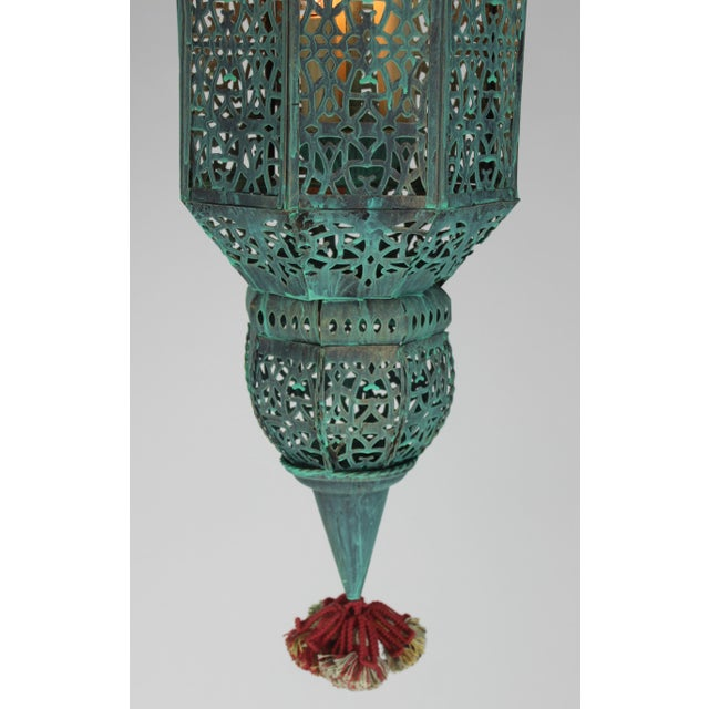 Moroccan Style Hanging Lantern For Sale - Image 4 of 9