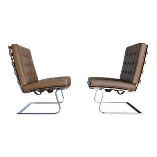 Mid Century Mies Van Der Rohe Mr 70 Tugendhat Chairs - a Pair For Sale