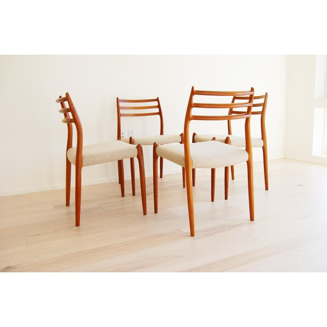 J L Moller Danish Modern Model 78 Teak Dining Chair - Set of 4 For Sale - Image 9 of 13