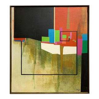 Modernist Geometric Painting, 1971 For Sale