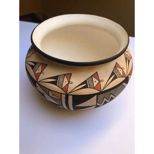 "Acoma Pueblo Pottery, Westly Bagaye ""Quail"" For Sale In Boston - Image 6 of 11"