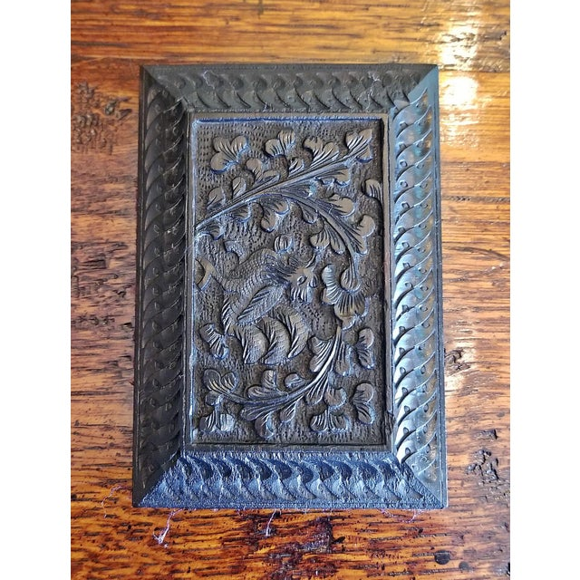 Ebony Late 19th Century Vintage Anglo Indian Ebony Calling Card Case For Sale - Image 7 of 9