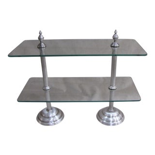 French Silver Finish & Glass Pastry Stand