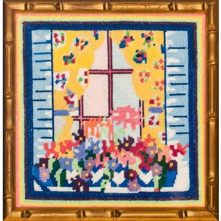 Needlepoint Floral Window Box For Sale