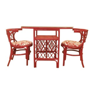 Vintage Rattan Chat Dining Set