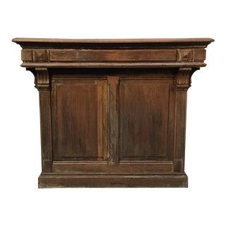 French Napoleon III Oak Bar For Sale