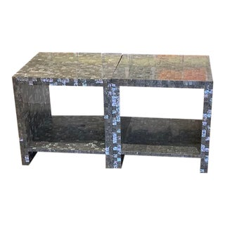 Contemporary Bernhardt Abalone Bunching Tables - Set of 2 For Sale