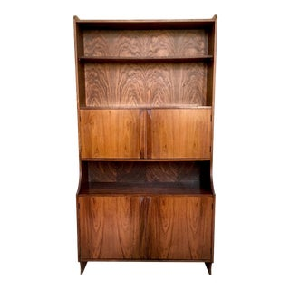 Majestic Italian Wooden Bookcase, 1960s For Sale