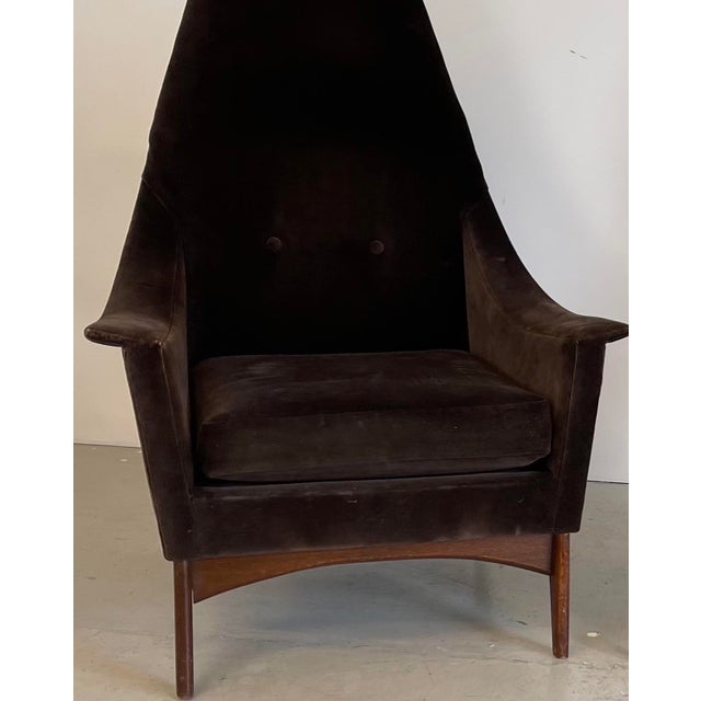 1960s Adrian Pearsall Attributed High-Back Lounge Chairs - 2 Pieces For Sale In Charlotte - Image 6 of 8