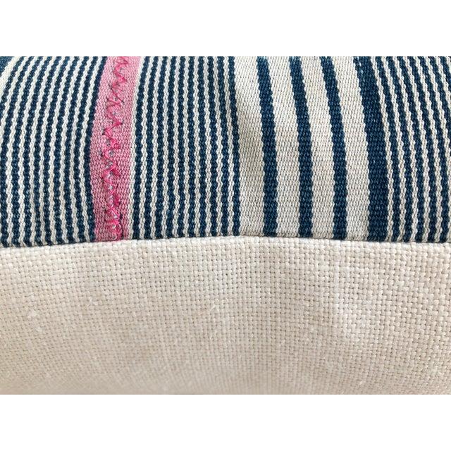 Vintage Baule Handwoven Textile Bolster For Sale - Image 4 of 6