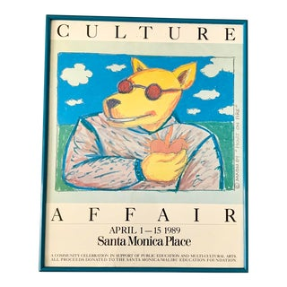 1989 Magli Santa Monica Culture Affair Rare Framed Poster For Sale