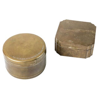 Vintage Brass Boxes - A Pair