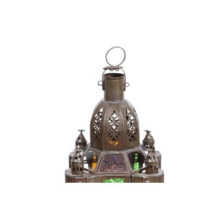 Handcrafted Moroccan Moorish Glass Lantern or Pendant