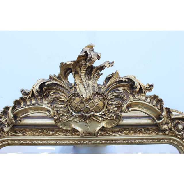 Ornate Carved Gilded French Mirror - Image 7 of 7
