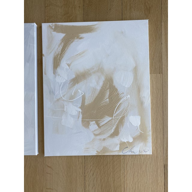 """Abstract Christian Siriano """"Falling"""" Original Paintings - Set of 2 For Sale - Image 3 of 3"""
