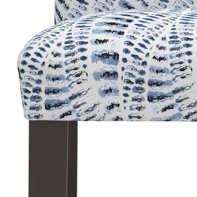 Not Yet Made - Made To Order Bar stool in Snake Skin Blue For Sale - Image 5 of 8