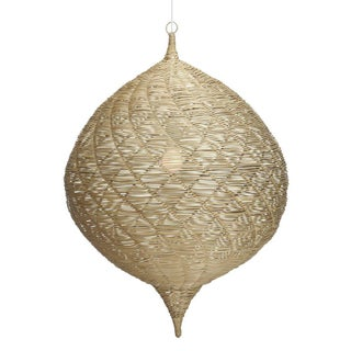 Medium Calabash Rattan Hanging Pendant Preview