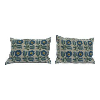 1940s Art Deco Mediterranean Lumbar Pillows - a Pair For Sale