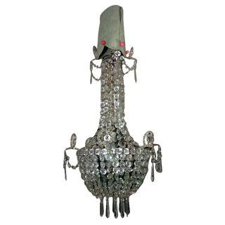Mid 19th Century Napoleon III Lustre De Fete Crystal Chandelier For Sale