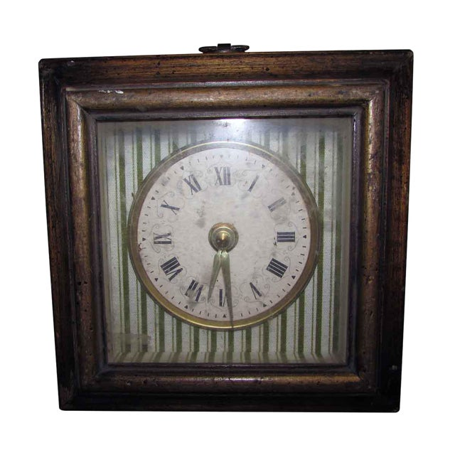 Vintage Square Wall Clock For Sale