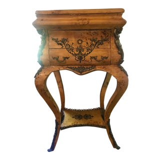 Louis XVI Burlwood Jewelry Chest For Sale