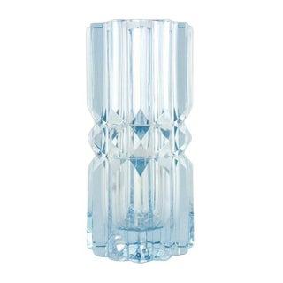 Cut Lavender Crystal Vase